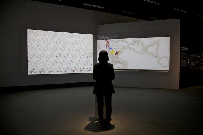 東京都写真美術館_見えない世界のみつめ方展_鳴川肇/AuthaGraph展示風景